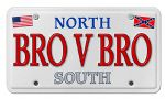 Brother V Brother Licence Plate Style Fridge Magnet
